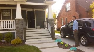 Adam Pittel Side of driveway